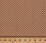 Cotton Jo Morton Isabella Diamonds Dots Brown Ecru Civil War Reproduction Cotton Fabric Print by the Yard (7944)