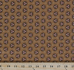 Cotton Jo Morton Isabella Circles Jacks Brown Civil War Reproduction Cotton Fabric Print by the Yard (7942)
