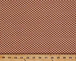 Cotton Jo Morton Isabella Diamonds Dots Brown Red Ecru Civil War Reproduction Cotton Fabric Print by the Yard (7944)