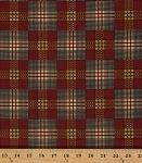 Cotton Jo Morton Charleston Red Plaid Civil War Reproduction Cotton Fabric Print by the Yard (7471-OR)