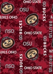 Fleece Ohio State University Buckeyes Brutus Digital Camouflage College Fleece Fabric Print by the Yard