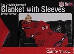 Comfy Throw Fleece Blanket with Sleeves Licensed College- University of Mississippi Rebels Ole Miss