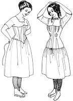 Past Pattern Chemises Chemis Shift 1800's Era Reproduction Costume Sewing Pattern pastpattern002