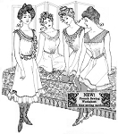 Past Pattern #108 Edwardian Corset Covers 4 Styles Camisole Tank Sewing Pattern only (pastpattern108)