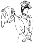 Past Pattern #113 Circa 1899 -1910 Spectator Jacket Ladies Tailored Coat Sewing Pattern (pastpattern113)