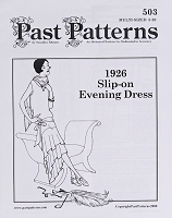 Past Pattern #503 Flapper Slip-On Evening Dress Roaring Twenties Early 1900's Sewing Pattern by the Pattern (pastpattern503)