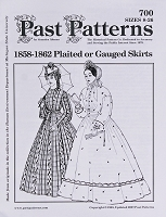Past Pattern #700 1800's Skirt Gathered or Pleated Skirt Sewing Pattern by the Pattern (pastpattern700)