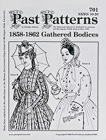 Past Pattern #701 Bodice Gathered and Fitted Bodices Blouses 1850-1867 Sewing Pattern by the Pattern (pastpattern701)