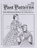 Past Pattern #702 Dart Fitted Bodices & Undersleeves Shirt Tops 1800s Style Sewing Pattern (pastpattern702)