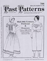 Past Pattern #706 Petticoat & Drawers Undergarments Underclothes 1800s Style Sewing Pattern by the Pattern (pastpattern706)