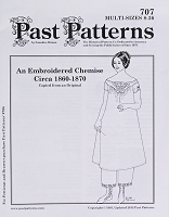 Past Pattern #707 Yoked Chemise Nightgown Undergarment  with Embroidery and Short Sleeves 1850-1870 Sewing Pattern  by the Pattern (pastpattern707)