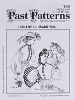 Past Pattern #709 Garibaldi Shirt Ladies Women's Blouse 1800s Style Sewing Pattern (pastpattern709)