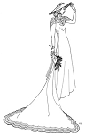 Past Pattern #304 Circa 1939 Bridal Gown Wedding Dress Sewing Pattern (pastpattern304)