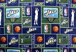 Fleece Utah Jazz NBA Pro Basketball Sports Team Fleece Fabric Print by the yard (s012jazzs)