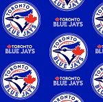 Fleece (not for masks) Toronto Blue Jays MLB Baseball Sports Team Canada Fleece Fabric Print By the Yard (s6677bf)