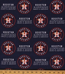 Cotton Houston Astros MLB Baseball Sports Team Cotton Fabric Print by the Yard (s6682bf)