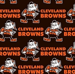 Fleece Cleveland Browns Brownie the Elf NFL Football Fleece Fabric Print by the Yard (s6699df)