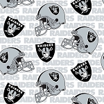 **Imperfect** Fleece Oakland Raiders White NFL Football Fleece Fabric Print (s6713df)