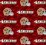 Fleece San Francisco 49ers NFL Football Red Digital Fleece Fabric Print by the Yard (s6770df)