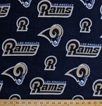 Fleece Los Angeles Rams NFL Football Fleece Fabric Print by the Yard