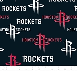 Fleece Houston Rockets NBA Basketball Sports Team Fleece Fabric Print by the Yard (83hou0003a)