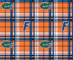 University of Florida™ Gators™ Plaid College Fleece Fabric Print
