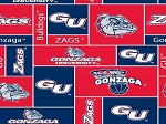College Gonzaga University Bulldogs Fleece Fabric Print By the Yard (sgonzaga012s)