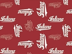 College Indiana University Hoosiers Fleece Fabric Print by the yard sin1122s
