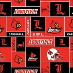 University of Louisville™ Cardinals™ College Fleece Fabric Print