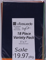 Ultrasuede® ST (Soft) 18 Piece Variety Pack (soft18pack) Assorted 5