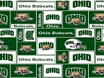 Fleece College University of Ohio Bobcats Fleece Fabric Print By the Yard (sohio012s)