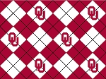 University of Oklahoma™ Sooners™ College Argyle Fleece Fabric Print