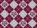 Texas A & M University™ Aggies™ Argyle College Fleece Fabric Print