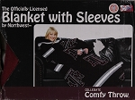 Comfy Throw Fleece Blanket with Sleeves Licensed College- Texas A&M Aggies
