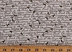 Cotton Holiday Christmas Festive Phrases Sayings Words Holly Hollies Winter Homegrown Holidays Cream Cotton Fabric Print by the Yard (19943-11)