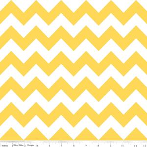 Cotton Chevron Zigzag Yellow White Striped Cotton Fabric Print by ...
