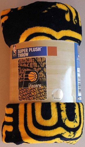 Indiana Pacers NBA 46x60 Super Plush Fabric Throw Blanket