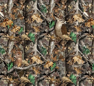 Realtree Camo Deer Camouflage Hunting Fleece Fabric Print by the Yard a1427s