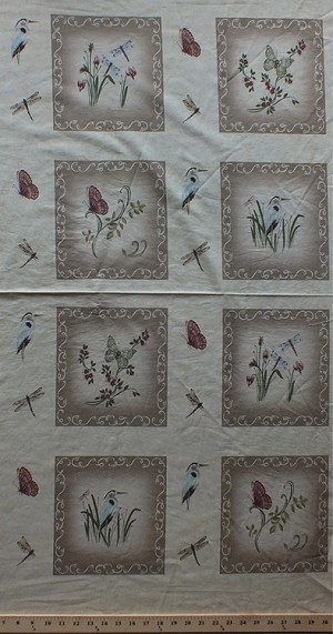 "24"" X 44"" Panel Northern Solitude Holly Taylor Butterfly Bird Dragonfly Cotton Fabric Panel (6310-14)"