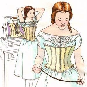 Past Pattern 1863 Dayton's Skirt Supporting Corset Sewing Pattern