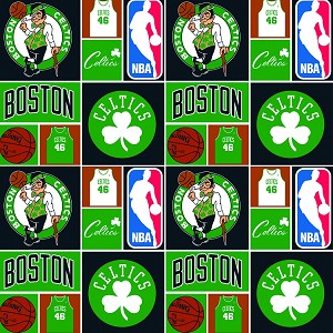 Cotton Boston Celtics NBA Pro Basketball Sports Team Cotton Fabric Print
