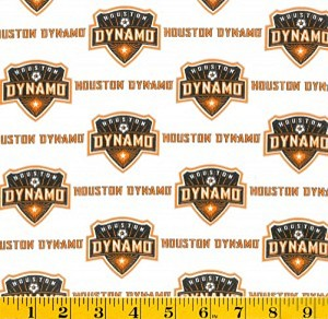 Cotton Houston Dynamo MLS Soccer Cotton Fabric Print