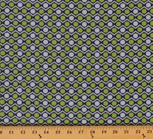 Flannel Geometric Circles Circle Chevron Grey Blue Green Flannel Fabric Print by the Yard (F2122-green)