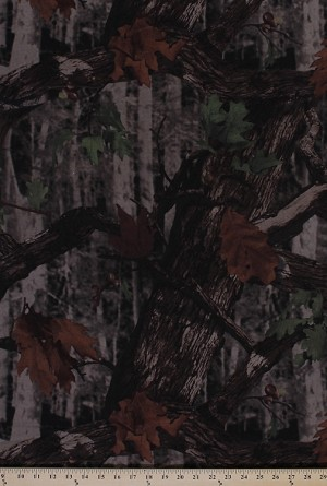 Elementree Jersey Knit Cotton Interlock Camouflage Camo Leaves Tree Fabric By the Yard (SRK-14809--29HUNTER)