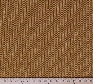 Cotton Bee Creative Honeycomb Golden Cotton Fabric Print by the Yard (1975713)