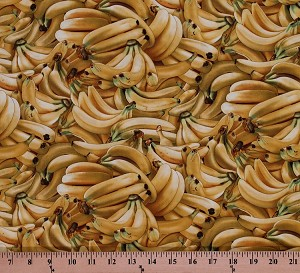 Cotton Bananas Banana Fruit Yellow Food Festival Cotton Fabric Print by the Yard (461-YELLOW)