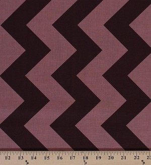 Cotton Chevrons Large Chevron Brown Zigzags Zigzag Stripes Striped Cotton Fabric Print by the Yard (C390-91)