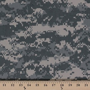 Twill Lite Digital Army Desert Camouflage Green Fabric Print by the Yard (BF0352-591)