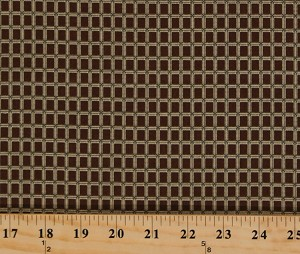 Cotton Jo Morton Emilie Rose Tan Box Grid Squares on Brown Civil War Reproduction Cotton Fabric Print by the Yard (7738-BN)