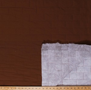 "60"" Carhartt® Single Face Quilted Brown Brick Grid Cotton Duck Canvas Thinsulate® Fabric by the Yard (4762Z-10A)"